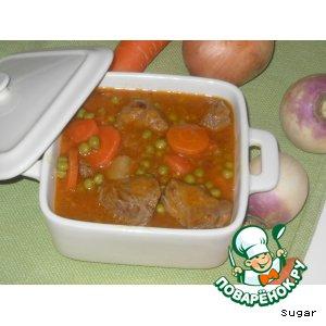 Рецепт Рагу из баранины с репой или Navarin