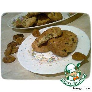 Рецепт Печенье с курагой и кокосом