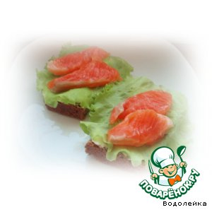 Маринованная красная рыба-вариант 2