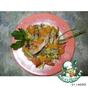 Рецепт Салат с курицей и авокадо