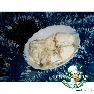 Рецепт Мороженое с карамелью-ириской