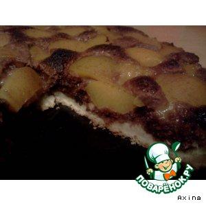 Рецепт Шоколадный пирог с персиками
