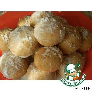 Рецепт Песочное печенье с арахисом