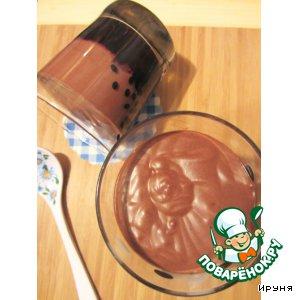 Рецепт Шоколадный мусс на черничном желе