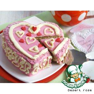 Рецепт Ананасовый торт «Сердце»