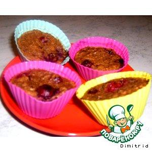 Рецепт Пшеничные кексы с ягодой из отрубей