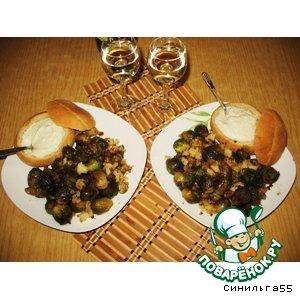 Рецепт Брюссельская капуста с сырным соусом