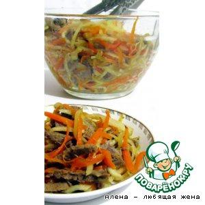 Рецепт Мясной салат с редькой