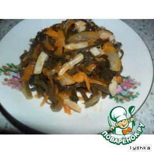 Рецепт Солянка из морской капусты с кальмарами