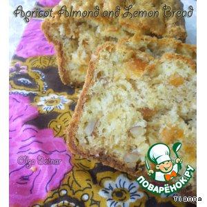 Рецепт Лимонно-миндальный хлеб с курагой