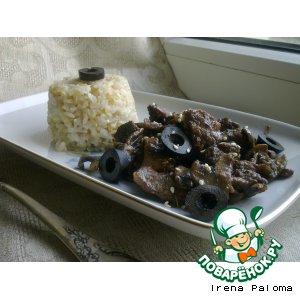 Рецепт Телятина с грибами в вине