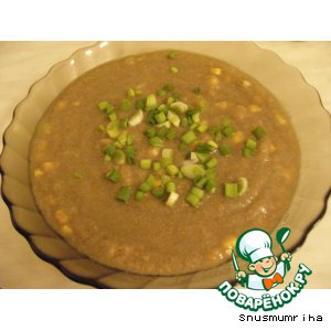 Рецепт Суп-пюре грибной с кукурузой