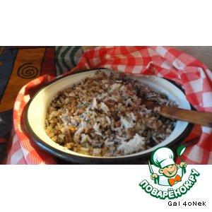 Рецепт Гречнево-рисовая каша с грибным ассорти
