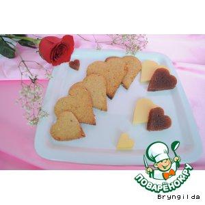"""Рецепт Арахисово-овсяное печенье """"От сердца к сердцу"""""""