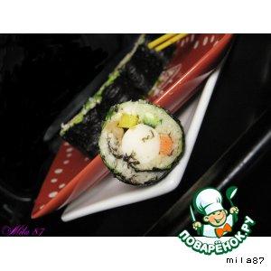 "Рецепт Роллы без  риса или ""Light sushi"""