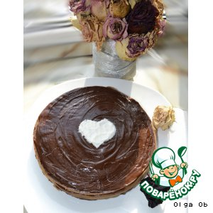 Шоколадный блинный тортик пошаговый рецепт с фото как приготовить