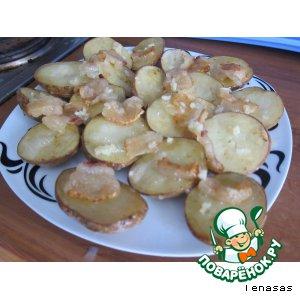 Рецепт Картофель печеный с салом
