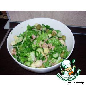 Рецепт Салат с креветками диетический
