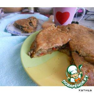 Рецепт Постный овощной пирог (без теста)
