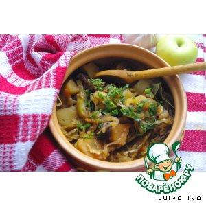 Рецепт Постное рагу с квашеной капустой и сухофруктами