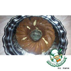 Рецепт Шоколадный кекс с творогом