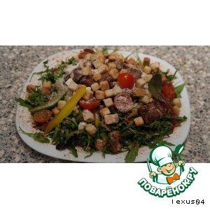 Рецепт Русско-итальянский салат-микс с бальзамиком и кедровыми ядрами