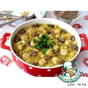 Рецепт Густой, постный суп с красной чечевицей и рыбными фрикадельками