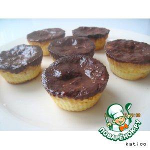 Рецепт Творожно-бананово-шоколадные мини-запеканки