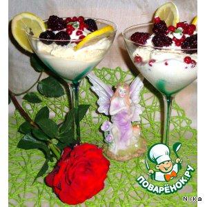 """Рецепт Лимонное мороженое """"Сладкое прощание с зимой"""""""