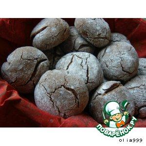 Рецепт Шоколадное печенье с трещинками