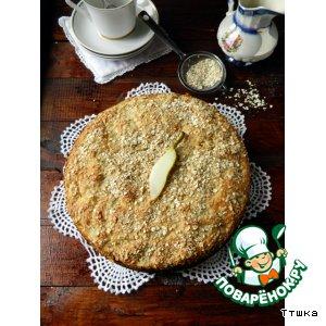 Рецепт Постный пирог с грушами и овсяными хлопьями