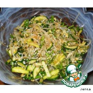 Рецепт Салат с рукколой и проростками бобов сои