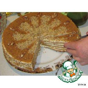 Рецепт Медовый торт с манным кремом