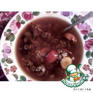Рецепт Холодный суп из сухофруктов