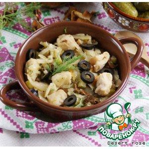Рецепт Рыбная селянка с капустой