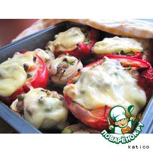 Рецепт Лосось, запеченный с овощами в овощах