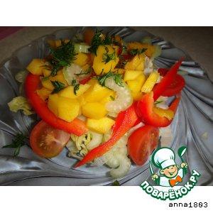 """Рецепт Салат с манго """"Праздник"""""""