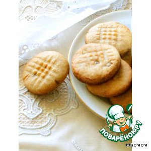 Рецепт: Хрустящее печенье с арахисовой пастой