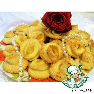 """Рецепт Печенье """"Творожные розы"""""""