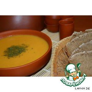 Рецепт Морковный суп с овсяными хлопьями