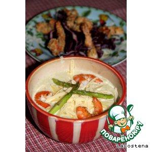 Рецепт Крем-суп из цукини с креветками