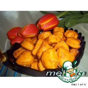 Рецепт Томатно-сырное печенье с кунжутом