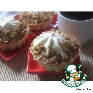 Рецепт Овсяные корзиночки с фруктами, взбитыми сливками и посыпкой из карамельных хлопьев