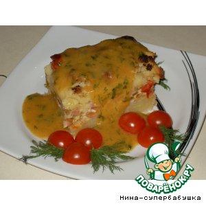 Рецепт Запеканка с цветной капустой и помидорками черри