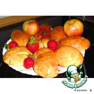 Рецепт Пирожки с фруктовой начинкой из творожного теста