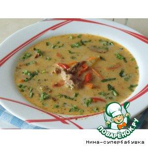 Рецепт Сливочный суп со шпинатом