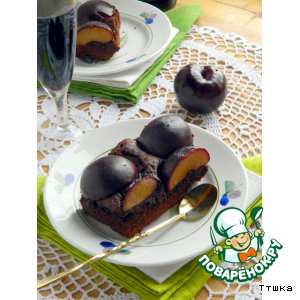 Рецепт Острый шоколадный торт со сливами/ Torta piccante di cioccolato e prugne