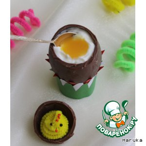 """Рецепт Пасхальные шоколадные яйца с """"Тирамису"""""""