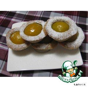 Рецепт Корзиночки с абрикосами