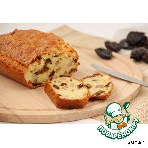 Рецепт Закусочный кекс с грудинкой и черносливом